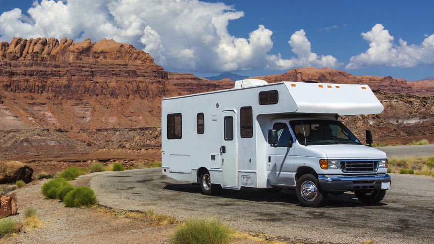 I877 rv outdoor red rock