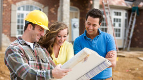 I292 shutterstock 170475800 couple building plans new home web