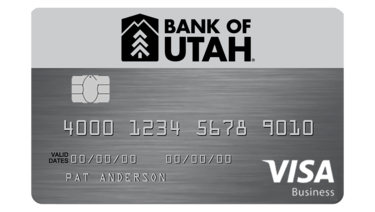 Bank of Utah Business VISA credit card
