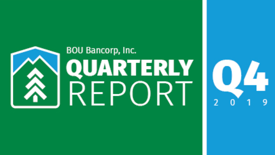 BOU Bancorp fourth quarter financial report graphic
